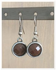 0009 oorbellen Brown
