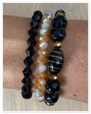 0015 armband set zwart shine