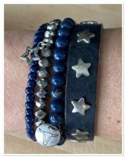 0021 armband set blue star