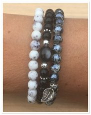 0022 armband set Black & white